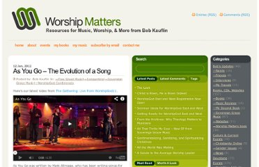 http://www.worshipmatters.com/2012/01/12/as-you-go-the-evolution-of-a-song/