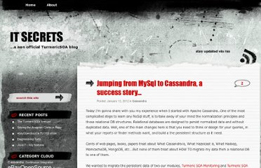 http://itsecrets.wordpress.com/2012/01/12/jumping-from-mysql-to-cassandra-a-success-story/