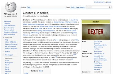 http://en.wikipedia.org/wiki/Dexter_(TV_series)
