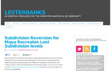 http://lesterbanks.com/2012/01/subdivision-reversion-for-maya-recreates-lost-subdivision-levels/