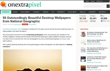 http://www.onextrapixel.com/2012/01/13/50-outstandingly-beautiful-desktop-wallpapers-from-national-geographic/