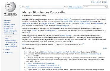 http://en.wikipedia.org/wiki/Martek_Biosciences_Corporation