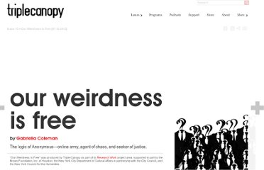 http://canopycanopycanopy.com/15/our_weirdness_is_free