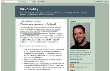 http://www.subelsky.com/2011/12/who-owns-vacant-properties-in-baltimore.html