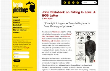 http://www.brainpickings.org/index.php/2012/01/12/john-steinbeck-on-love-1958/