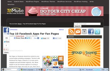 http://tomuse.com/facebook-apps-fan-pages/
