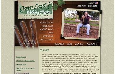 http://www.downeastwalkingsticks.com/canes.htm