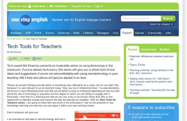 http://www.onestopenglish.com/support/tech-tools-for-teachers/