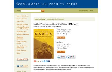 http://cup.columbia.edu/book/978-0-231-13578-8/nakba