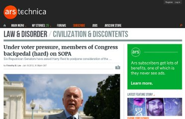 http://arstechnica.com/tech-policy/news/2012/01/under-voter-pressure-members-of-congress-backpedal-on-sopa.ars