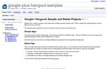 http://code.google.com/p/google-plus-hangout-samples/