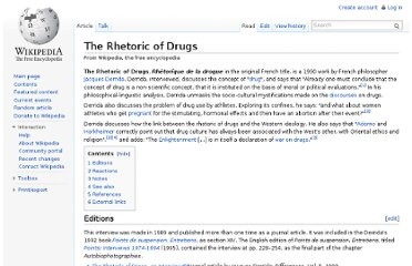 http://en.wikipedia.org/wiki/The_Rhetoric_of_Drugs