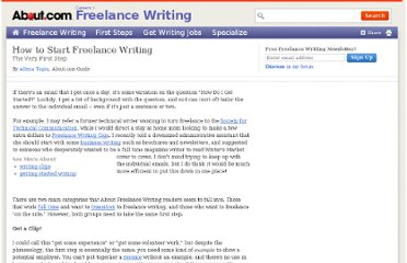 http://freelancewrite.about.com/od/breakingintofreelancing/a/startwrite.htm