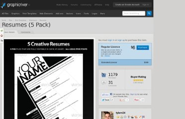 http://graphicriver.net/item/resumes-5-pack/44004