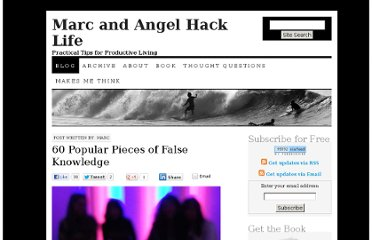 http://www.marcandangel.com/2008/06/12/60-popular-pieces-of-false-knowledge/