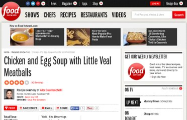 http://www.foodnetwork.com/recipes/alexandra-guarnaschelli/chicken-and-egg-soup-with-little-veal-meatballs-recipe/index.html