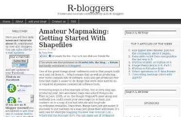 http://www.r-bloggers.com/amateur-mapmaking-getting-started-with-shapefiles/