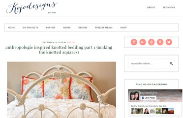 http://kojo-designs.com/2010/12/kojotutorial-anthropologie-inspired-knotted-bedding-part-1-making-the-knotted-squares/