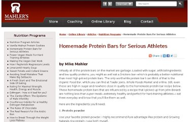 http://www.mikemahler.com/online-library/articles/nutrition-programs/homemade-protein-bars.html