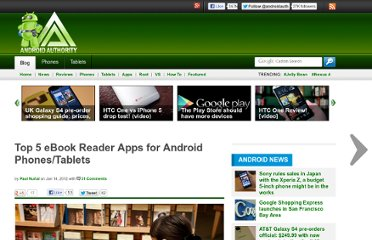 http://www.androidauthority.com/top-5-ebook-reader-apps-for-android-phonestablets-44253/