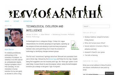 http://evoanth.wordpress.com/2012/01/14/technological-evolution-and-intelligence/
