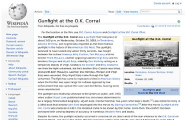 http://en.wikipedia.org/wiki/Gunfight_at_the_O.K._Corral