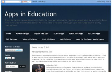 http://appsineducation.blogspot.com/2012/01/10-essential-science-apps.html