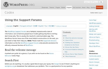 http://codex.wordpress.org/Using_the_Support_Forums