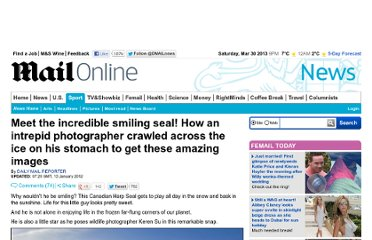 http://www.dailymail.co.uk/news/article-2085835/Meet-incredible-smiling-seal-How-intrepid-photographer-crawled-ice-stomach-amazing-images.html