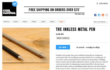 http://shop.coolmaterial.com/products/the-inkless-metal-pen