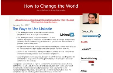 http://blog.guykawasaki.com/2007/01/ten_ways_to_use.html#axzz12nVoI3ha