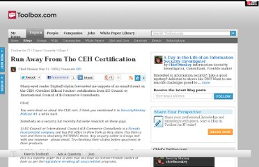 http://it.toolbox.com/blogs/securitymonkey/run-away-from-the-ceh-certification-9639