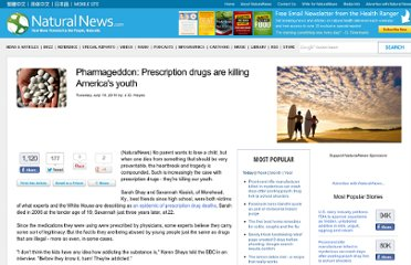http://www.naturalnews.com/033044_pharmageddon_drug_abuse.html