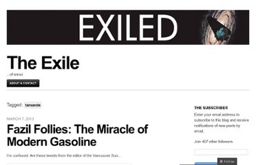 http://exile.wordpress.com/tag/tarsands/