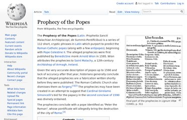 http://en.wikipedia.org/wiki/Prophecy_of_the_Popes