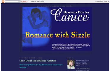 http://canicebrown-porter.blogspot.com/2006/10/list-of-erotica-and-romantica.html