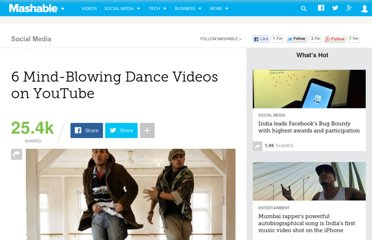 http://mashable.com/2012/01/15/youtube-dance-videos/