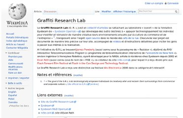 http://fr.wikipedia.org/wiki/Graffiti_Research_Lab