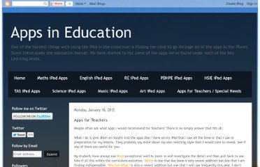 http://appsineducation.blogspot.com/2012/01/apps-for-teachers.html