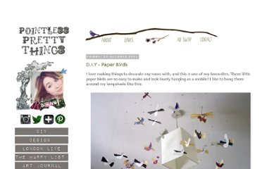 http://pointlessprettythings.blogspot.com/2011/10/diy-paper-birds.html