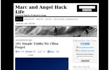 http://www.marcandangel.com/2012/01/15/101-simple-truths-we-often-forget/