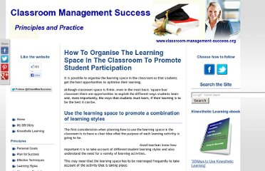 http://www.classroom-management-success.org/learning-space.html