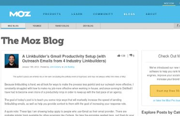 http://www.seomoz.org/blog/linkbuilder-gmail-productivity-setup-and-outreach-examples