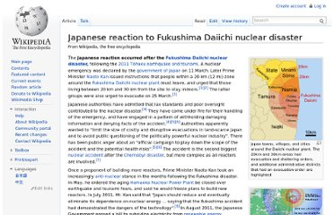 http://en.wikipedia.org/wiki/Japanese_reaction_to_Fukushima_Daiichi_nuclear_disaster