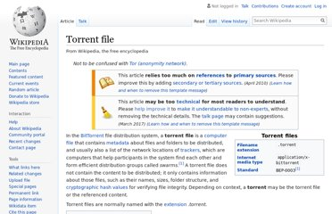 http://en.wikipedia.org/wiki/Torrent_file