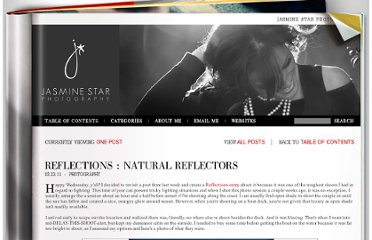 http://www.jasminestarblog.com/index.cfm?postID=1061&reflections-natural-reflectors