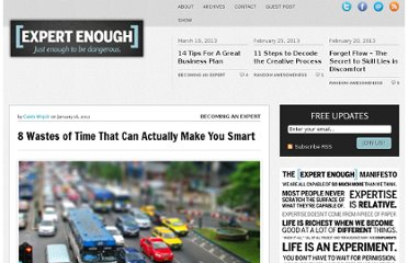 http://expertenough.com/1173/smart-wastes-of-time