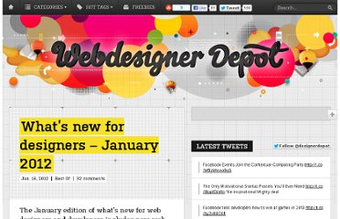 http://www.webdesignerdepot.com/2012/01/whats-new-for-designers-january-2012/