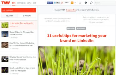 http://thenextweb.com/socialmedia/2012/01/16/11-useful-tips-for-marketing-your-brand-on-linkedin/
