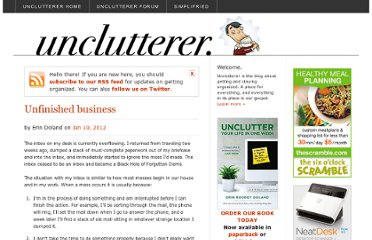 http://unclutterer.com/2012/01/10/unfinished-business/